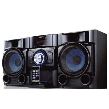 1 cha ne radio hi fi am fm cd avec support ipod et t lecommande sony item details encan. Black Bedroom Furniture Sets. Home Design Ideas